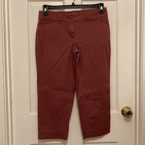 Loft Original Crop Capri pants women size 4 rose